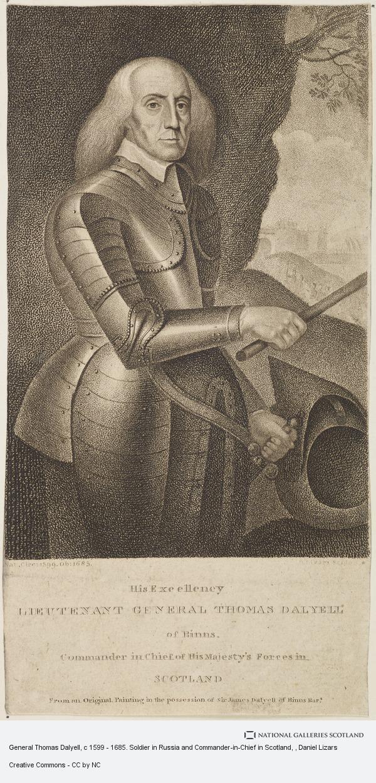 Daniel Lizars, General Thomas Dalyell, c 1599 - 1685. Soldier in Russia and Commander-in-Chief in Scotland