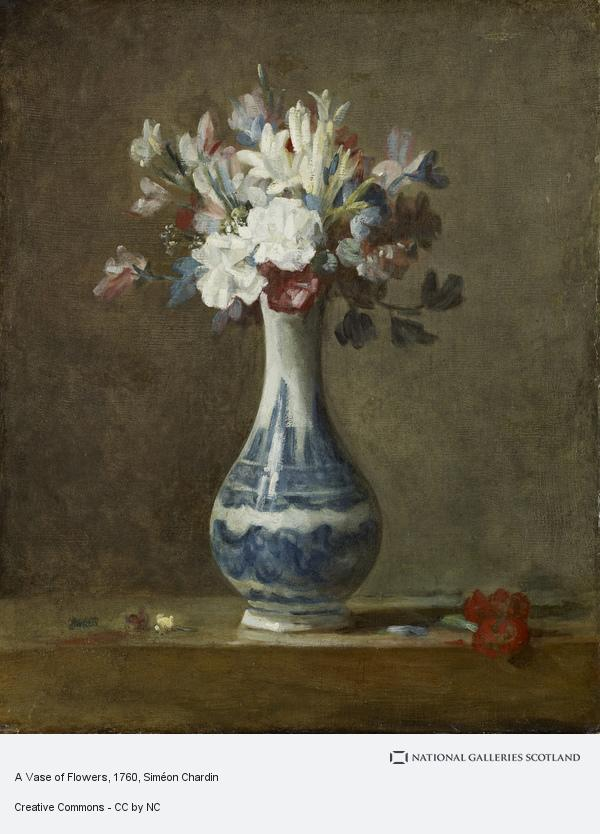 Jean-Baptiste Siméon Chardin, A Vase of Flowers (early 1760s)
