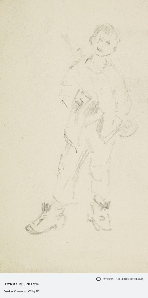 Otto Leyde, Sketch of a Boy