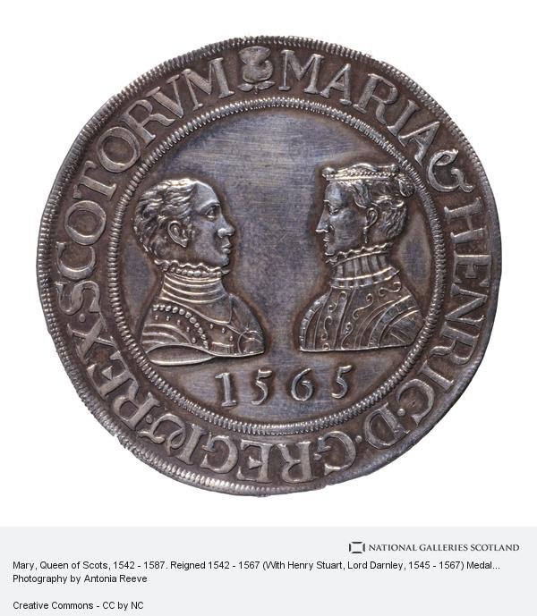 Unknown, Mary, Queen of Scots, 1542 - 1587. Reigned 1542 - 1567 (With Henry Stuart, Lord Darnley, 1545 - 1567) Medal commemorating the marriage of Mary...