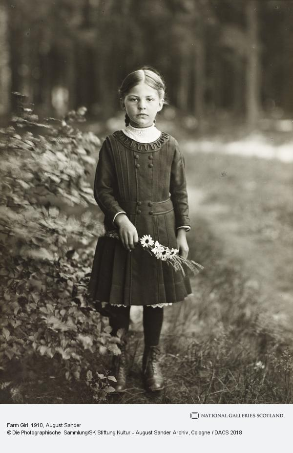 August Sander, Farm Girl, c.1910 (about 1910)