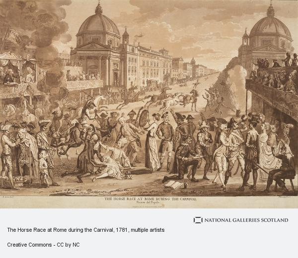 Paul Sandby, The Horse Race at Rome during the Carnival