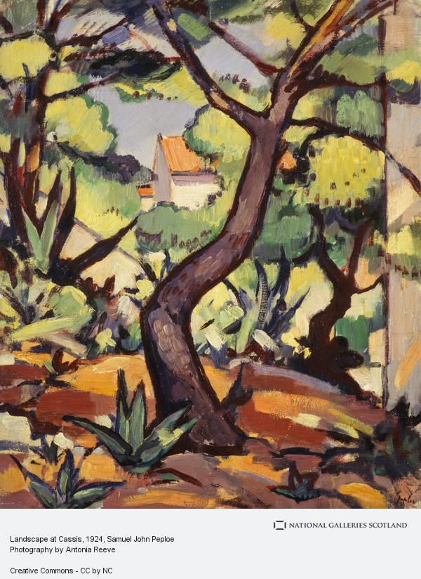 Samuel John Peploe, Landscape at Cassis