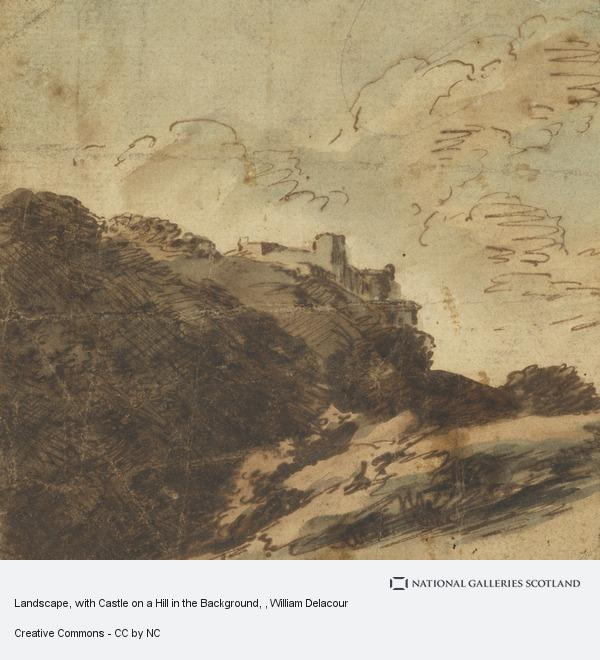 William Delacour, Landscape, with Castle on a Hill in the Background