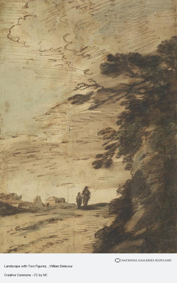 William Delacour, Landscape with Two Figures