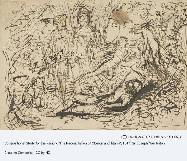 Sir Joseph Noel Paton, Compositional Study for the Painting 'The Reconciliation of Oberon and Titania'
