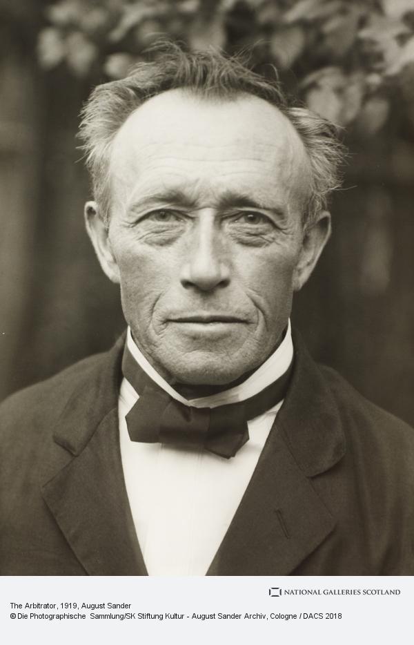 August Sander, Arbitrator, 1919 (1919)