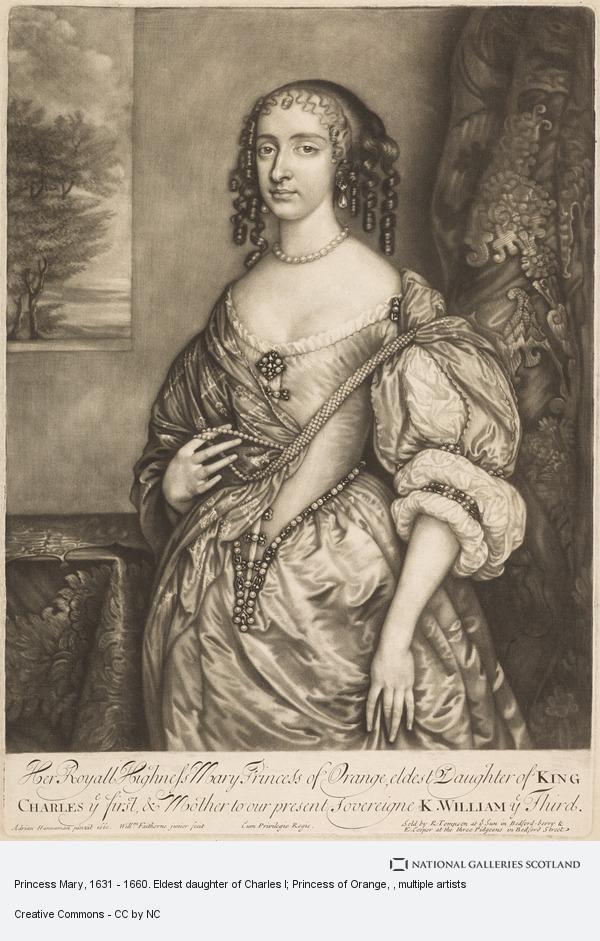 William Faithorne, Princess Mary, 1631 - 1660. Eldest daughter of Charles I; Princess of Orange