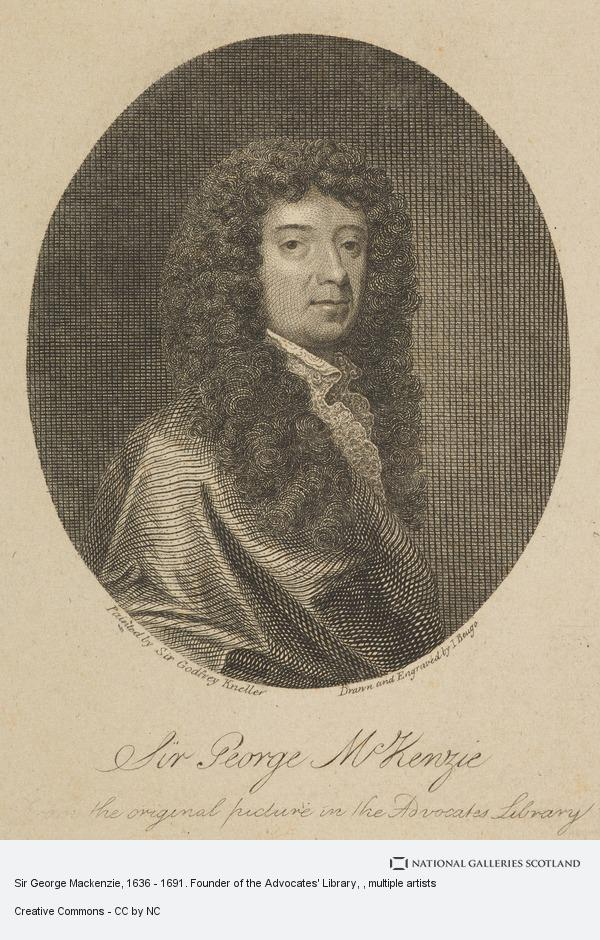 John Beugo, Sir George Mackenzie, 1636 - 1691. Founder of the Advocates' Library