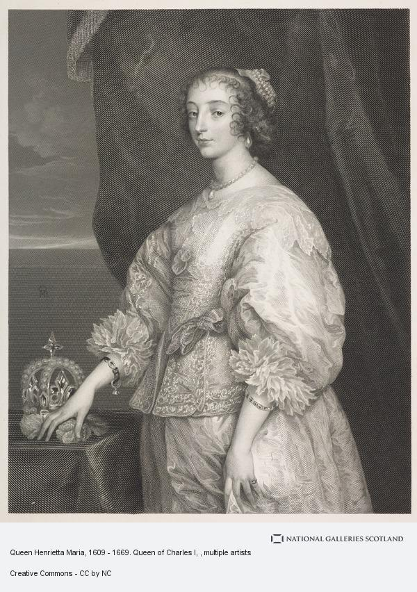 Jean Ferdinand Joubert, Queen Henrietta Maria, 1609 - 1669. Queen of Charles I