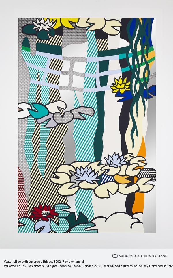 Roy Lichtenstein, Water Lillies with Japanese Bridge