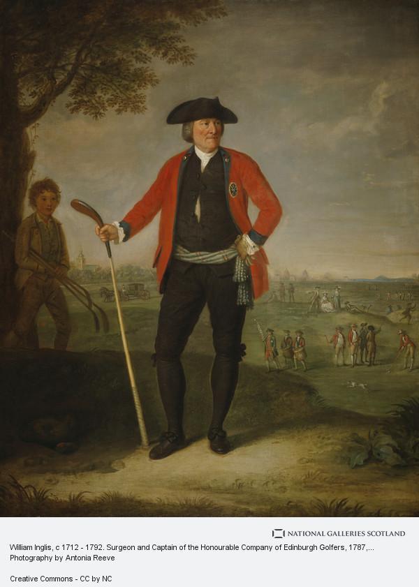 David Allan, William Inglis, c 1712 - 1792. Surgeon and Captain of the Honourable Company of Edinburgh Golfers (1787)