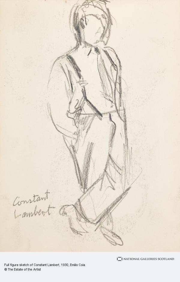 Emilio Coia, Full figure sketch of Constant Lambert