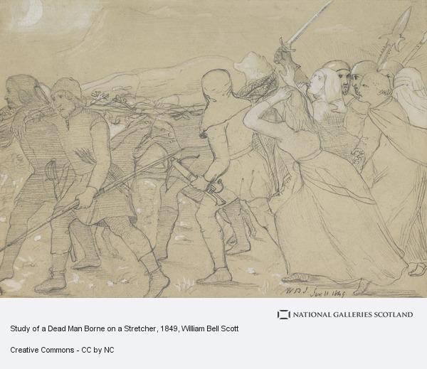 William Bell Scott, Study of a Dead Man Borne on a Stretcher