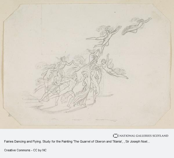 Sir Joseph Noel Paton, Fairies Dancing and Flying. Study for the Painting 'The Quarrel of Oberon and Titania'