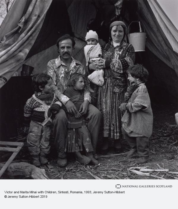 Jeremy Sutton-Hibbert, Victor and Marita Mihai with Children, Sintesti, Romania