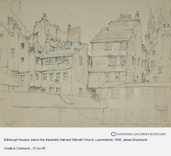 James Drummond, Edinburgh Houses, below the Assembly Hall and Tolbooth Church, Lawnmarket