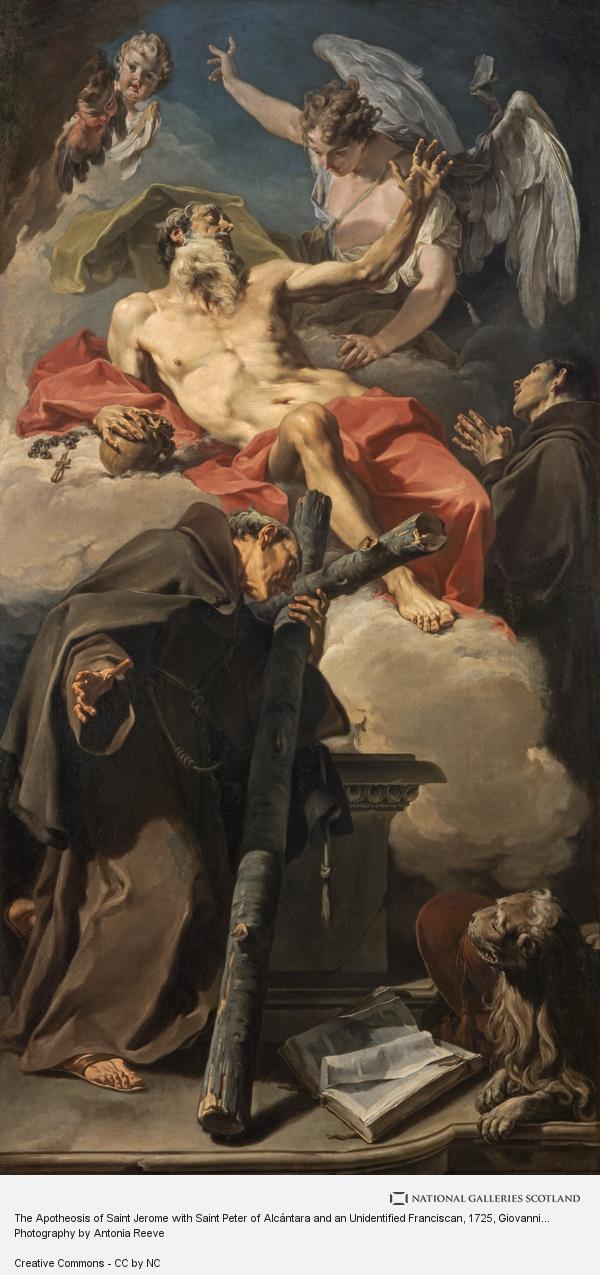 Giovanni Battista Pittoni, The Apotheosis of Saint Jerome with Saint Peter of Alcántara and an Unidentified Franciscan (About 1725)