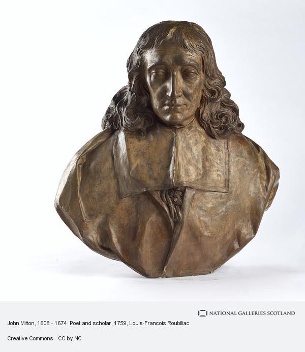 Louis-Francois Roubiliac, John Milton, 1608 - 1674. Poet and scholar
