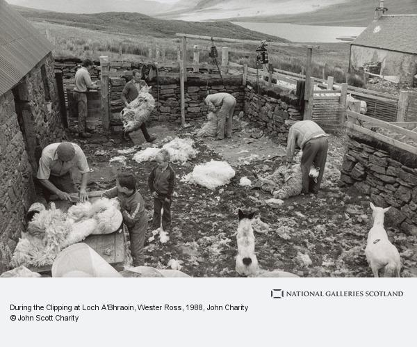 John Charity, During the Clipping at Loch A'Bhraoin, Wester Ross (1988)