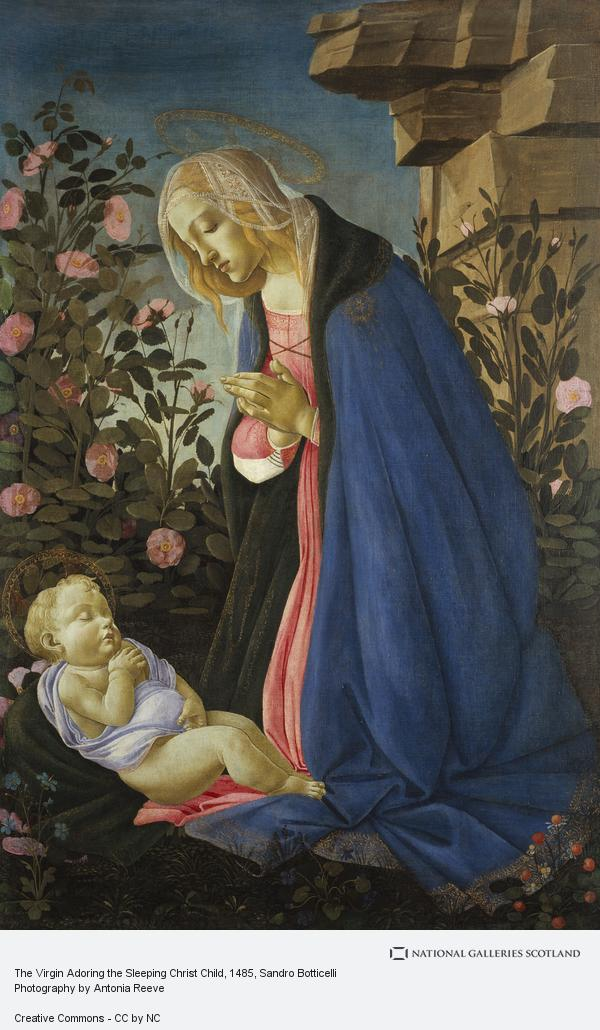 Sandro Botticelli, The Virgin Adoring the Sleeping Christ Child (About 1485)