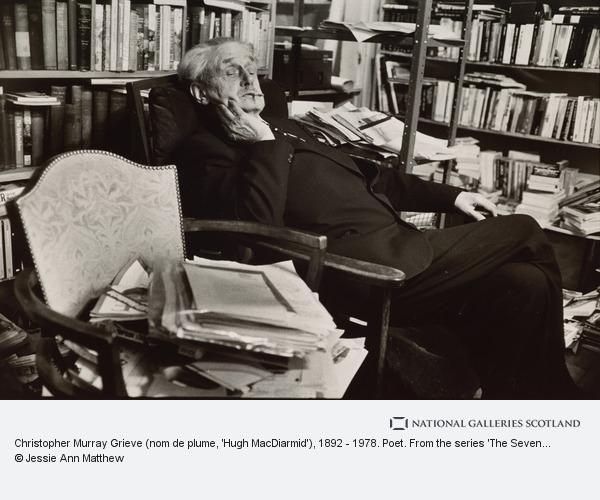 Jessie Ann Matthew, Christopher Murray Grieve (nom de plume, 'Hugh MacDiarmid'), 1892 - 1978. Poet. From the series 'The Seven Poets' (1978)