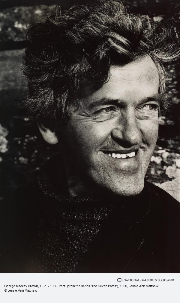 Jessie Ann Matthew, George Mackay Brown, 1921 - 1996. Poet. (from the series 'The Seven Poets') (1980)