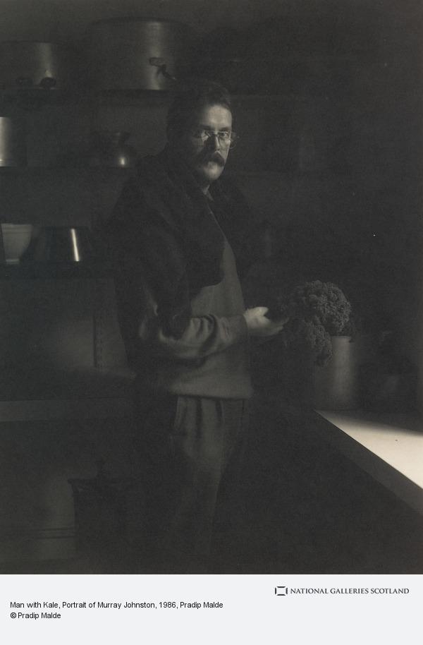 Pradip Malde, Man with Kale, Portrait of Murray Johnston
