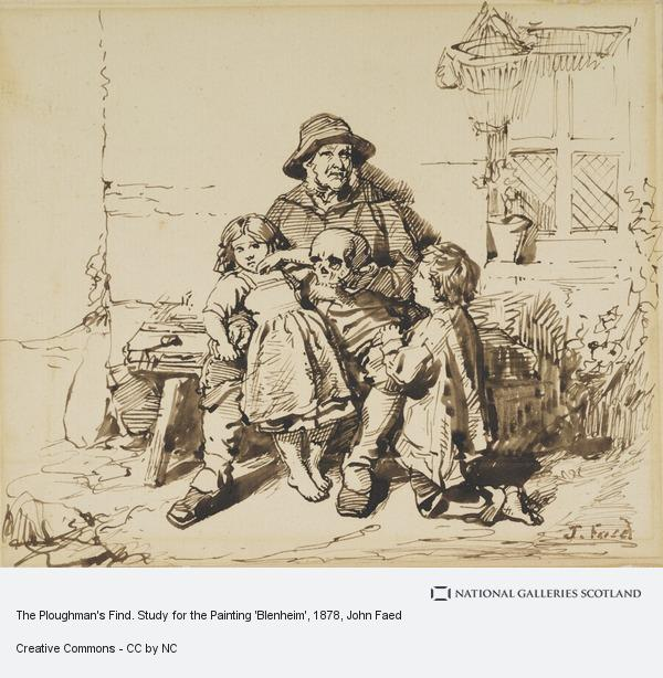 John Faed, The Ploughman's Find. Study for the Painting 'Blenheim'