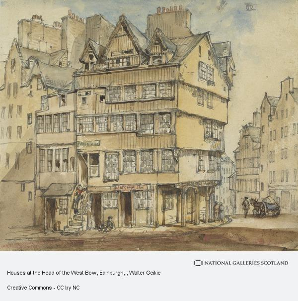 Walter Geikie, Houses at the Head of the West Bow, Edinburgh