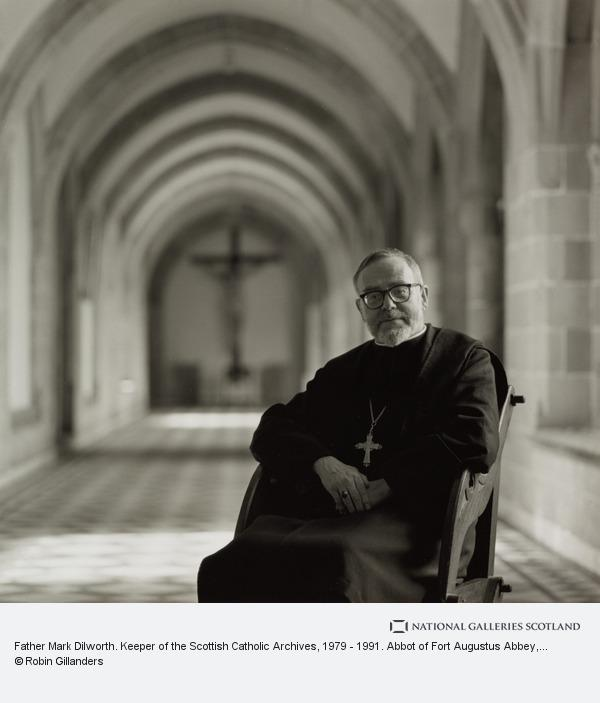 Robin Gillanders, Father Mark Dilworth. Keeper of the Scottish Catholic Archives, 1979 - 1991. Abbot of Fort Augustus Abbey