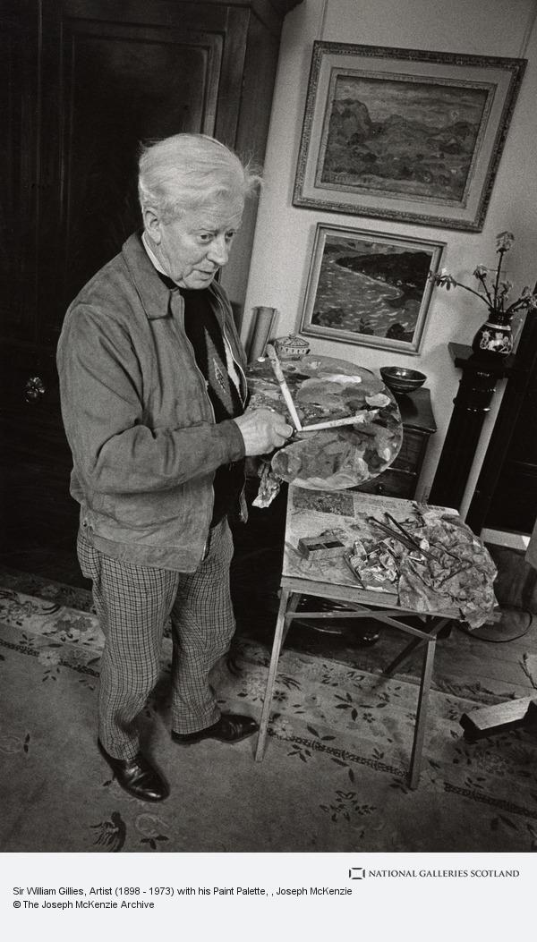 Joseph McKenzie, Sir William Gillies, Artist (1898 - 1973) with his Paint Palette