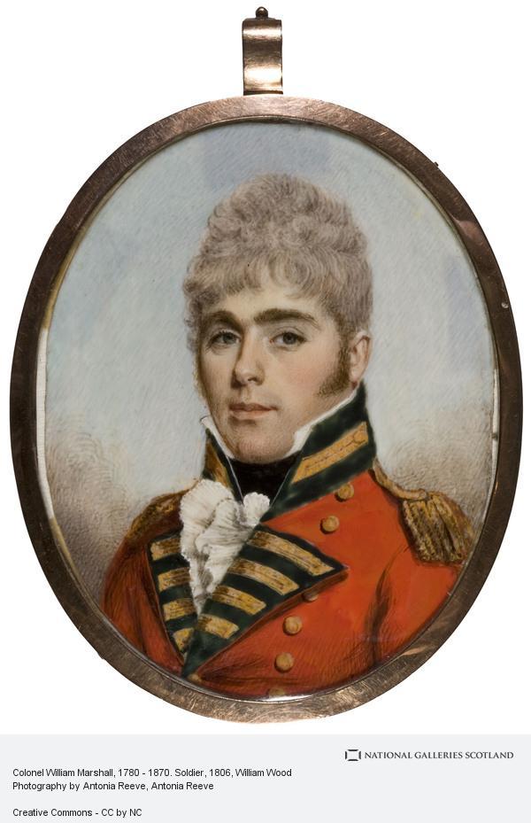 William Wood, Colonel William Marshall, 1780 - 1870. Soldier