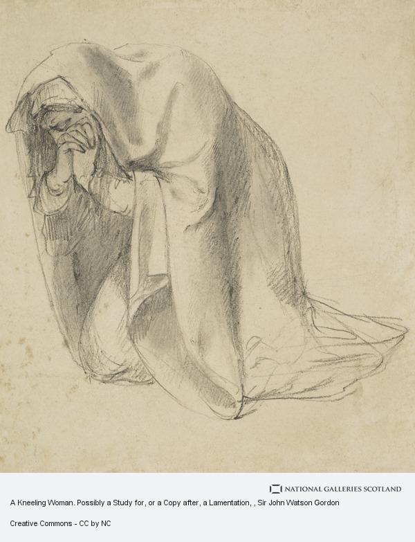 Sir John Watson Gordon, A Kneeling Woman. Possibly a Study for, or a Copy after, a Lamentation