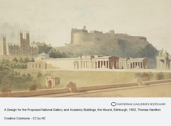 Thomas Hamilton, A Design for the Proposed National Gallery and Academy Buildings, the Mound, Edinburgh