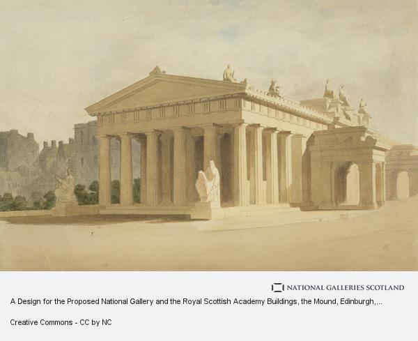 Thomas Hamilton, A Design for the Proposed National Gallery and the Royal Scottish Academy Buildings, the Mound, Edinburgh