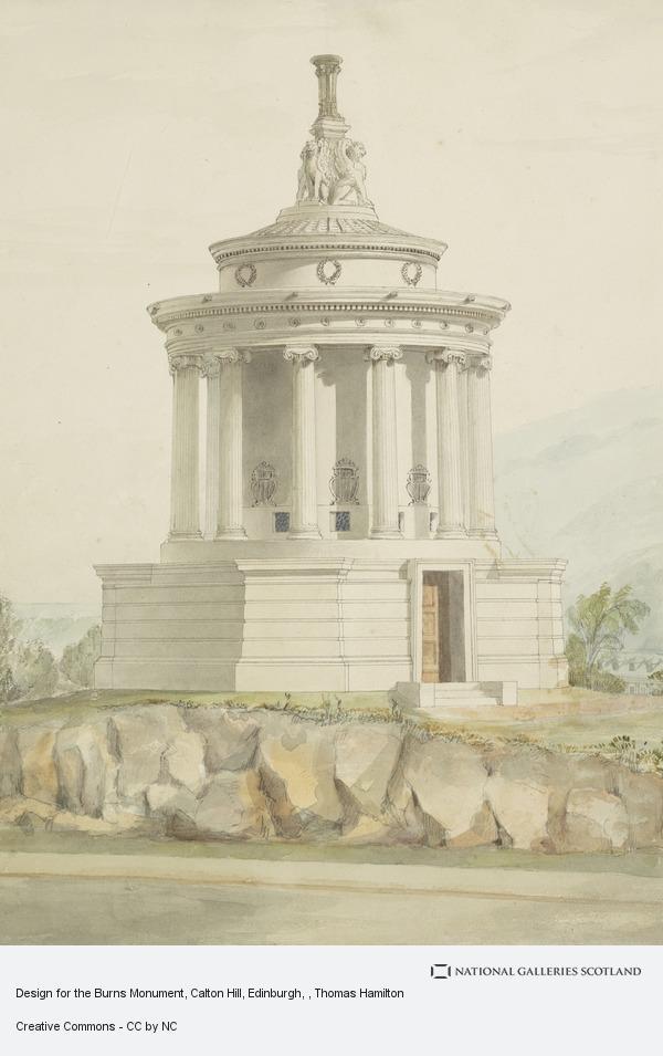 Thomas Hamilton, Design for the Burns Monument, Calton Hill, Edinburgh