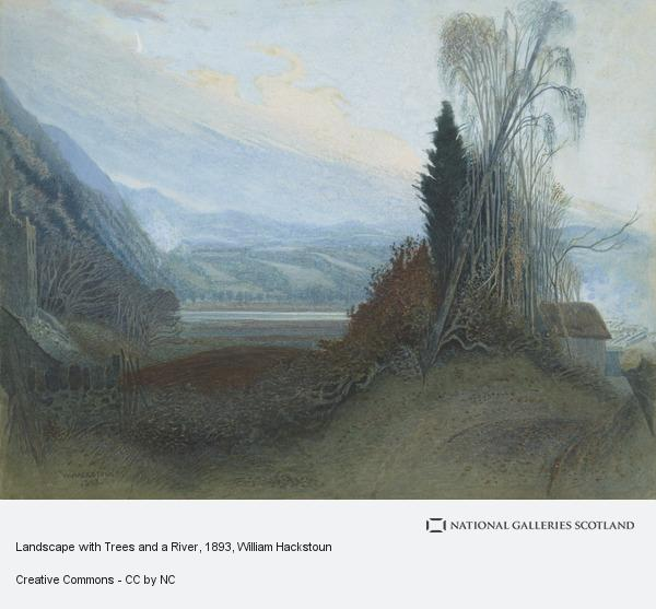William Hackstoun, Landscape with Trees and a River