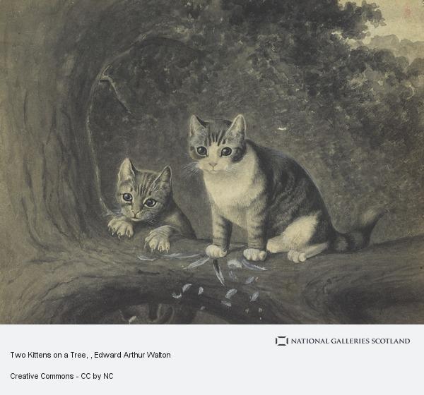 Edward Arthur Walton, Two Kittens on a Tree