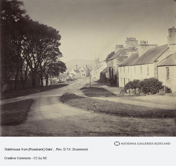 Rev. D.T.K. Drummond, 'Gatehouse from [Rosebank] Gate'