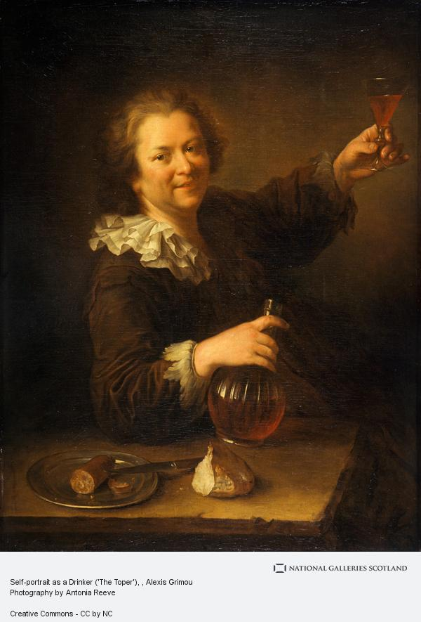 Alexis Grimou, Self-portrait as a Drinker ('The Toper')