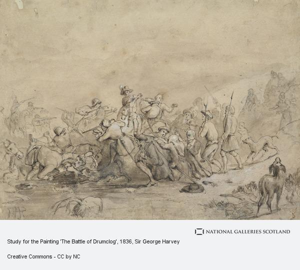 Sir George Harvey, Study for the Painting 'The Battle of Drumclog' (About 1836)