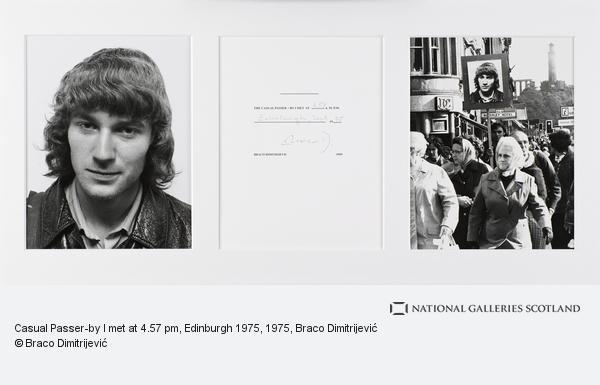 Braco Dimitrijevic, Casual Passer-by I met at 4.57 pm, Edinburgh 1975