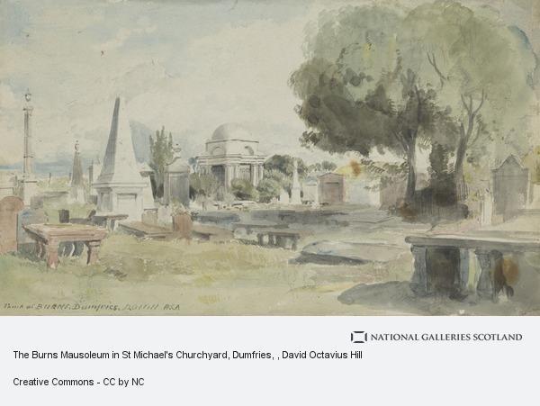 David Octavius Hill, The Burns Mausoleum in St Michael's Churchyard, Dumfries