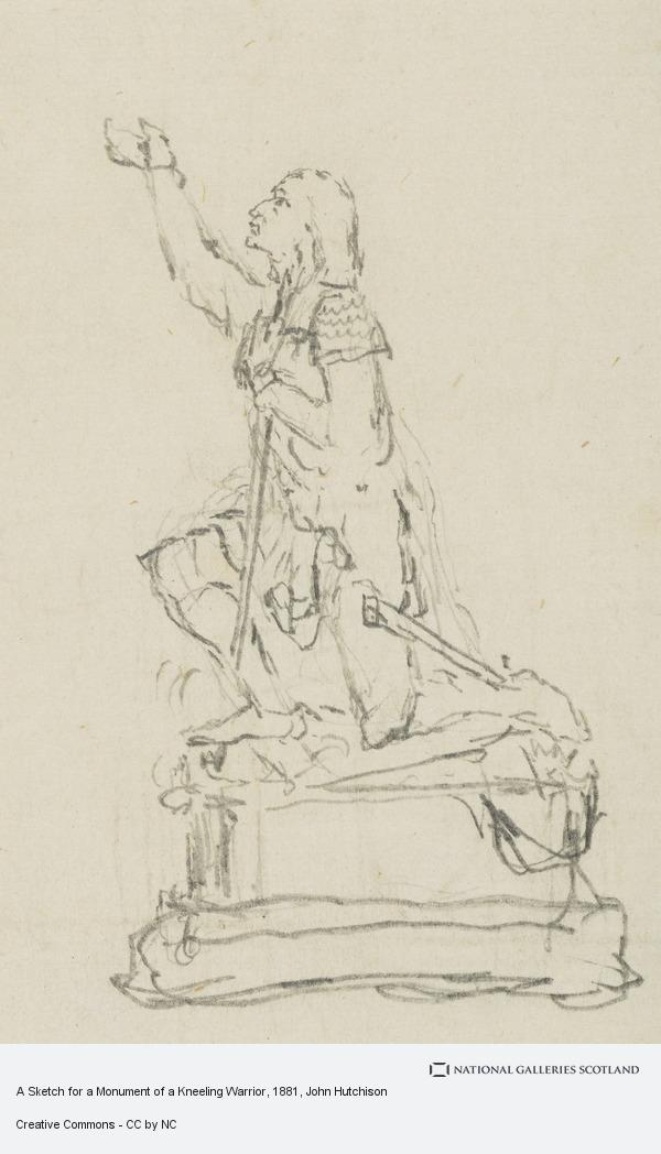John Hutchison, A Sketch for a Monument of a Kneeling Warrior