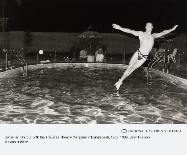 Sean Hudson, Swimmer. On tour with the Traverse Theatre Company in Bangladesh, 1989