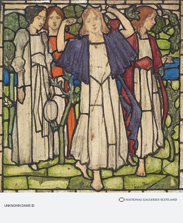 David Gauld, The Procession of Saint Agnes - Stained Glass Design