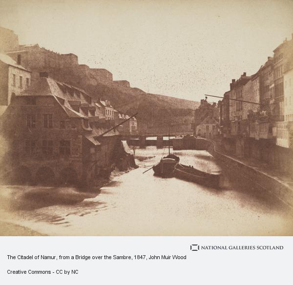 John Muir Wood, The Citadel of Namur, from a Bridge over the Sambre