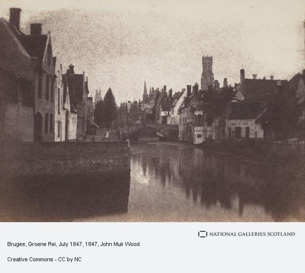 John Muir Wood, Bruges, Groene Rei, July 1847