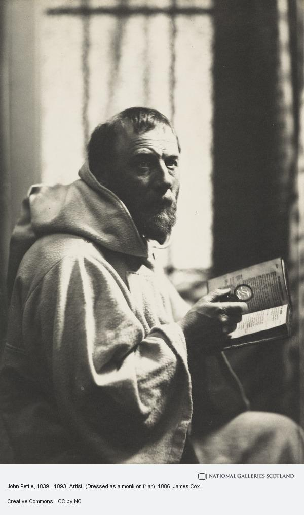 James Cox, John Pettie, 1839 - 1893. Artist. (Dressed as a monk or friar)
